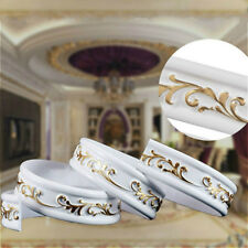Plume Scrolls Ribbon Trims Onlay Furniture Moulding Carved Home Decor Modern Art