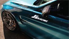 "J's Racing Decal Sticker 2 Vtec TLX RSX S2000 Honda Integra Type R 12"" Pair"
