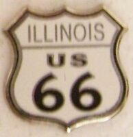 Hat Lapel Pin Push Tie Tac Route 66 - Illinois - The Mother Road NEW shield