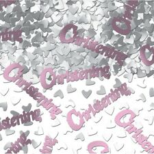 4 PACK CHRISTENING CONFETTI /  TABLE SPRINKLES PINK TABLE DECORATIONS