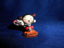 PUCCA SWINGING GUITAR PUNK LOVE Miniature Figurine French Porcelain FEVES Figure
