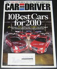Car & Driver January 2010-10 Best Cars,Porsche 911 Turbo,KTM X-Bow
