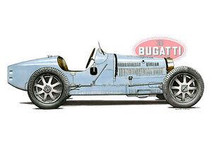 Classic Bugatti Type 35B Greeting Card A6 size