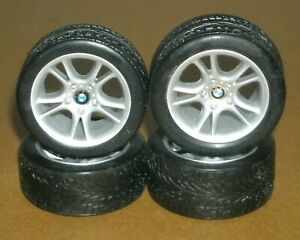 1/18 Scale BMW Z8 Roadster Wheel & Tire Set (E52) Hot Wheels Car Model Parts