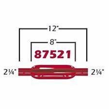"""CHERRY BOMB 87521CB GLASSPACK MUFFLER  2.25"""" RED CHERRYBOMB STRAIGHT"""