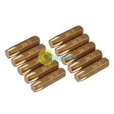 "10Pk Torx Gold Screwdriver Bits T40 Hard Titanium-Coated S2 Steel 1/4"" Drive"