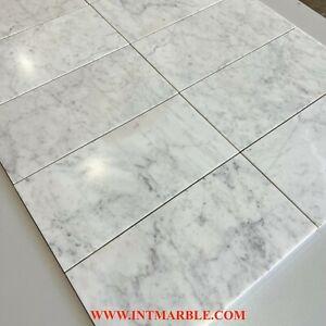 Marble Subways Honed Italian Marble Natural Stone Carrara White, 150x300x10mm