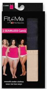 """Fit for Me® by Fruit of the Loom® Womens' SEAMLESS Camis 2-Pack """"Wear 2 Ways"""""""