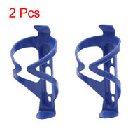2Pcs Blue Cycling Bike Bicycle Road Drink Water Bottle Cup Holder Mount Cage