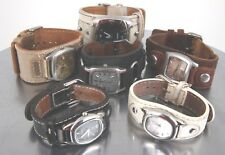 FOR PARTS & OR REPAIR LOT OF 6 FOSSIL WATCHES W/ LEATHER STRAPS 6676