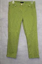 "Willi Smith Women's Lime Green Polka Dot Capri Pants Size 8- 24"" inseam"