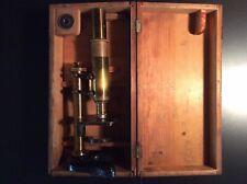 E. Leitz Wetzlar Antique Brass Microscope