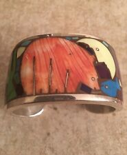 Fetish Inlay Cuff - Museum Piece! Navajo Vintage Turza Wells and Andrew Shows