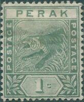 Malaysia Perak 1892 SG61 1c green Tiger MH