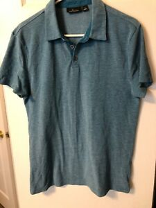 Marc Anthony Men's Polo Shirt, Short Sleeve, Blue, Size M