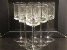 """6 Pieces Lot Long-Stem 8"""" Crystal Glass Tea Light Candle Holders Wedding Event"""