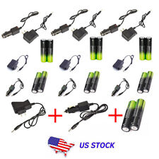 7Set Battery Li-ion 18650 Rechargeable Battery For Headlamp Torch+AC/Car Charger