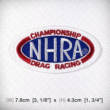 NHRA Drag Racing CHAMPIONSHIP Embroidered Iron on Patch Sew Hot Rod Muscle car