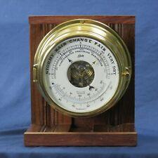 Schatz Royal Mariner Barometer Wood Mounted Marine Ship Vintage West Germany