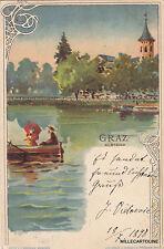* AUSTRIA - Graz - Hilmteich 1898 Lith.Druck u.Verlag Presunn