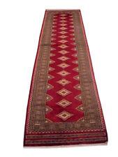Perfect 2 ft 6 in x 10 ft Silk outline Handmade Jaldar Deep Wine Red New Rug