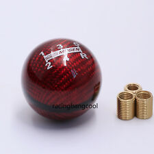 JDM Mugen 5 Speed Red Carbon Fiber Gear Shift Knob For Honda CIVIC ACCORD S2000