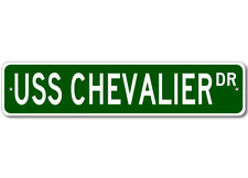 USS CHEVALIER DD 805 Ship Navy Sailor Metal Street Sign - Aluminum
