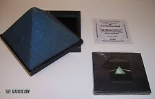 Pink Floyd DARK SIDE OF THE MOON Extremely Rare BLUE SANDSTONE PYRAMID BOX COA