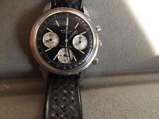 Vintage Men's Breitling Geneve 3 Meters Top Time Chronograph Watch - Black Dial