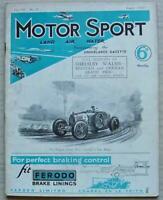 MOTOR SPORT Magazine Aug 1931 WOLSELEY HORNET German GP ALVIS SILVER EAGLE