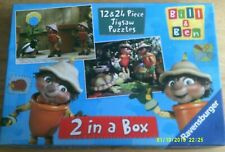 BBC Bill and Ben The Flower Pot Men  Jigsaw Puzzles 2 In 1 Box  12 x 24 Pieces