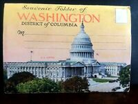 VINTAGE-SOUVENIR  FOLDER FROM WASHINGTON D.C. Post Card Fold Out