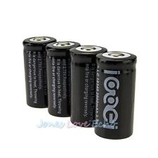 4 x 2000Mah 3.7V 16340 Li-ion Rechargeable Battery For LED Flashlight Black
