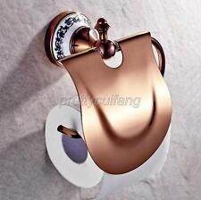 Rose Gold Brass Wall Mounted Bathroom Toilet Tissue Paper Roll Holder Pba385