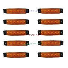 10X 6 LED Side Marker AMBER Indicator Light for Truck Lorry Trailer Bus Van 12V