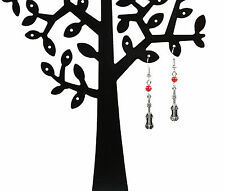 NEW red bead violin drop earrings ear wire/hook free white lace pouch & postage