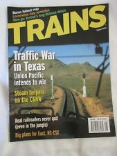 Trains Magazine August 2002 Traffic War in Texas UP Intends to Win+Foldout Map
