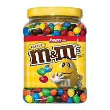M&M's Peanut Chocolate Candy, Plastic Pantry Size Jar (62 oz.)