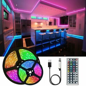 5050 USB  RGB 65.6FT LED Fairy Strip Light With 44 Keys Controller Home Party