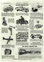 1961 PAPER AD Battery Op Mechanical Toys Friction Motorcycle Tank Sperkling