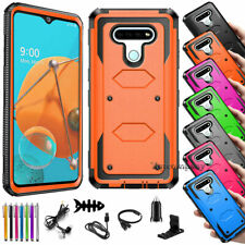 For Lg K51/ Reflect/Q51 Rugged Hard Shockproof Hybrid Phone Case Cover+Accessory