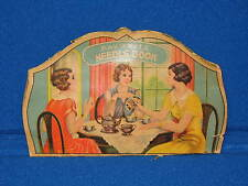 Vintage Steel Favorite Needle Book Folder Women Sewing Bee Japan Old Embroidery