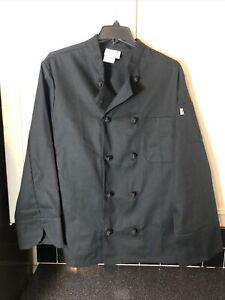 Uncommon Threads Chef Coat Black  New Size XL