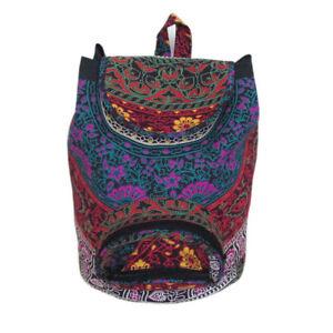 Ethnic Mandala Backpack Bag Hippie Unisex Bag Boho Casual Bag Cotton Gym Bag Art