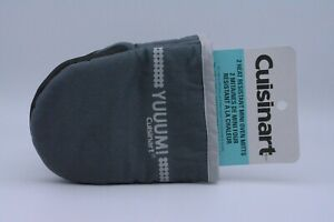Cuisinart Mini Oven Gloves Mitts In Grey Small Size With Heat Resistant Silicone