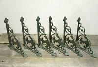 6 CAST IRON BOAT ANCHOR BRACKETS CORBELS BRACES WALL SHELF BRACKET NAUTICAL BOAT