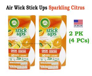 Air Wick Stick Ups Air Freshener Sparkling Citrus Scented - 2 PK (4 PCs)