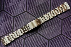 "NEW 19MM WATCH BAND SOLID S/STEEL FOR SEIKO 6139-6002/6005 ""POGUE"" CHRONOGRAPH"