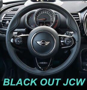 USA STOCK Gloss Piano Black JCW Steering Wheel Trims MINI Cooper F55 F56 F57 F60