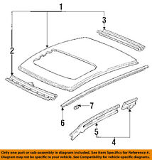 HONDA OEM 92-95 Civic-Roof Molding Clip 74307SR3003